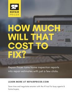 Estimates after a home inspection - RepairPricer